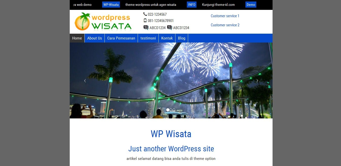 template wisata tour wordpress