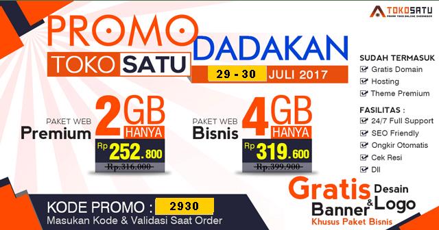 Promo Tokosatu 29-30 Juli 2017
