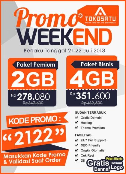 Promo Weekend Tokosatu, Edisi 21-22 Juli 2018