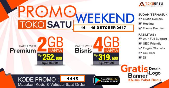 Promo Weekend Tgl 14 -15 Oktober 2017