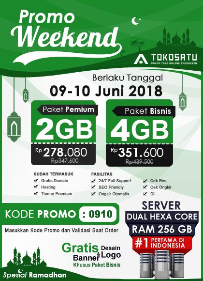Promo Weekend Toko Satu, 09 – 10 Juni 2018