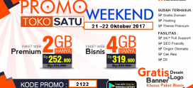 Promo Weekend 21 sampai 22 Oktober 2017