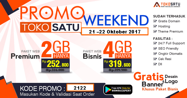 Promo Weekend 21 sampai 22 Oktober 2017