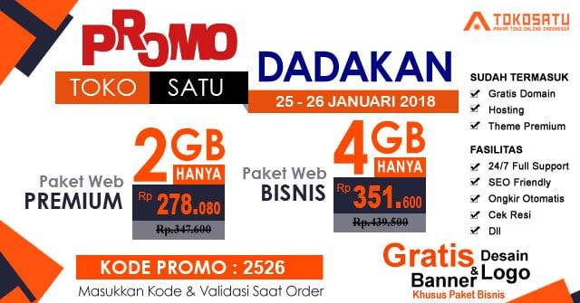Promo Dadakan Hanya 2 Hari, 25 – 26 Januari 2018