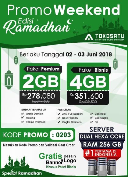 Promo Weekend Toko Satu, Edisi Ramadhan