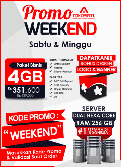 Promo Weekend Tokosatu, 29 – 30 September 2018