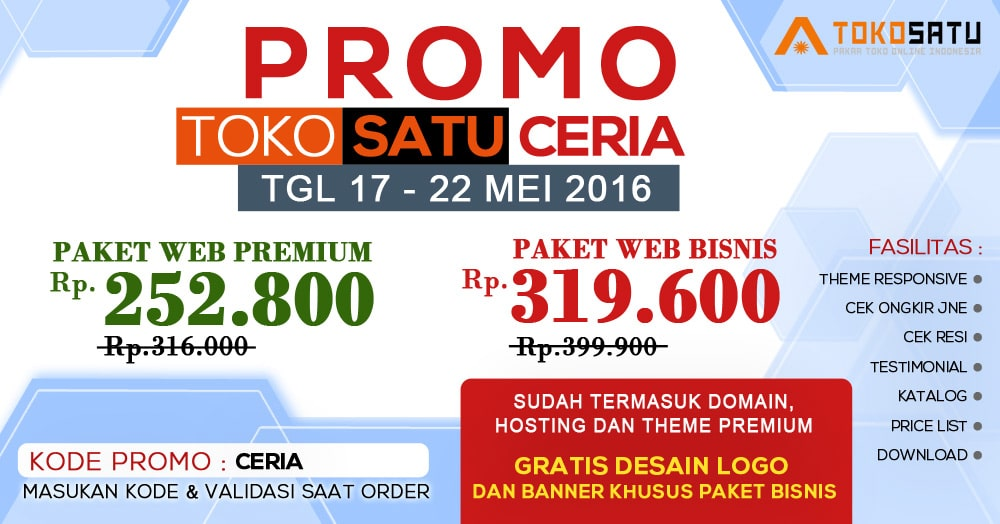 Promo CERIA 17-22 Mei 2016, Diskon Up To 70% !!!