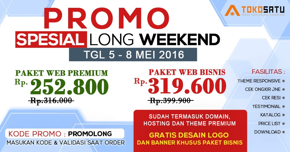 Promo Spesial LONG WEEKEND TokoSatu 5-8 Mei 2016