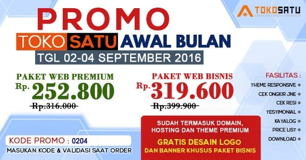 Promo Awal Bulan Toko Satu, 2-4 September 2016