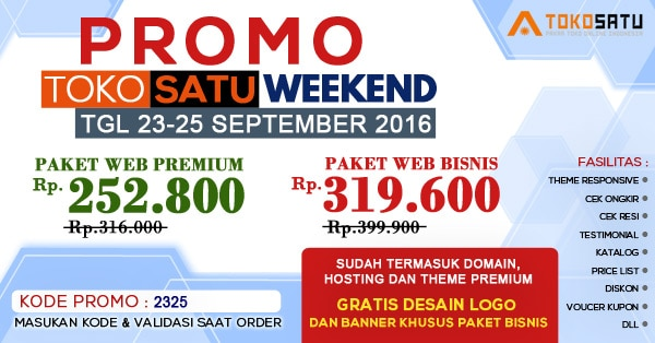Promo Weekend 23-25 September 2016