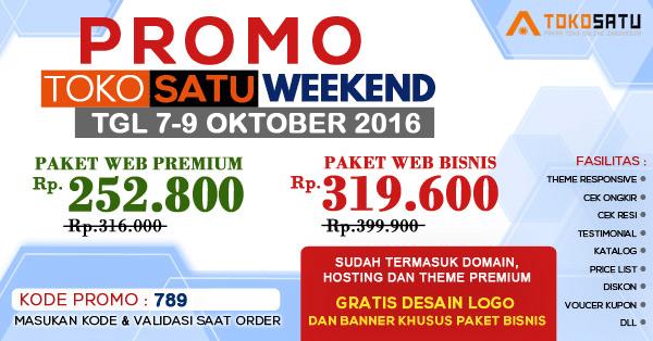 Promo Weekend 7-9 Oktober 2016