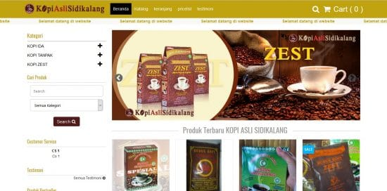 klien toko satu-portopolio website toko online jual kopi
