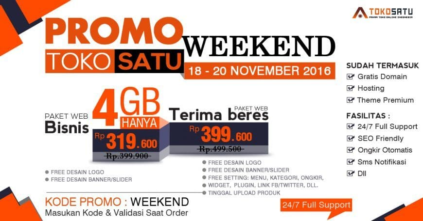 Promo Weekend Tokosatu 18-20 November 2016