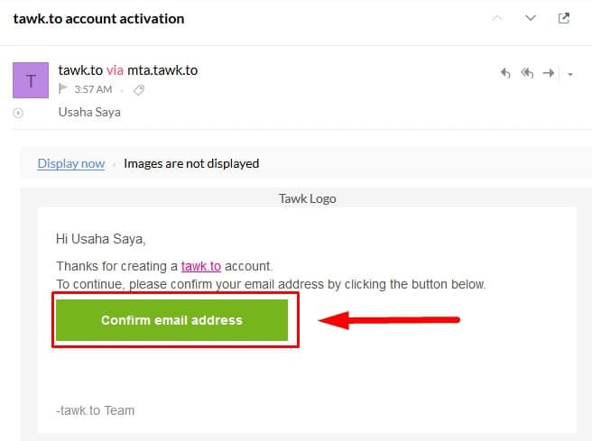 2 Panduan Instal Live Chat di Website CMS WordPress - Confirm Email