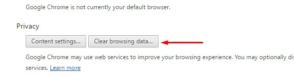 Clear Cahce pada Browser Crome - Privacy
