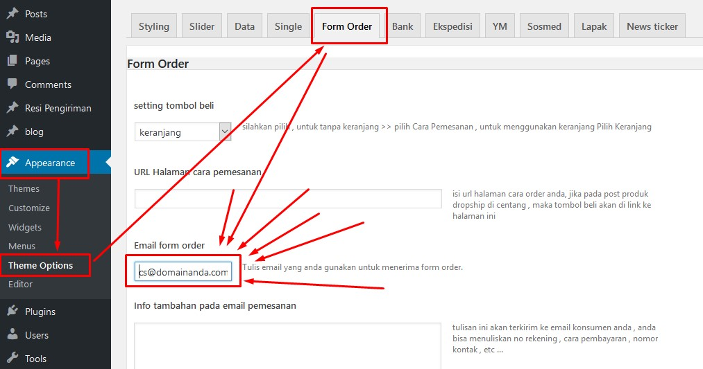Email Laporan order Template WP-Agen, Bagus, Niaga, Beli, Pasar dll