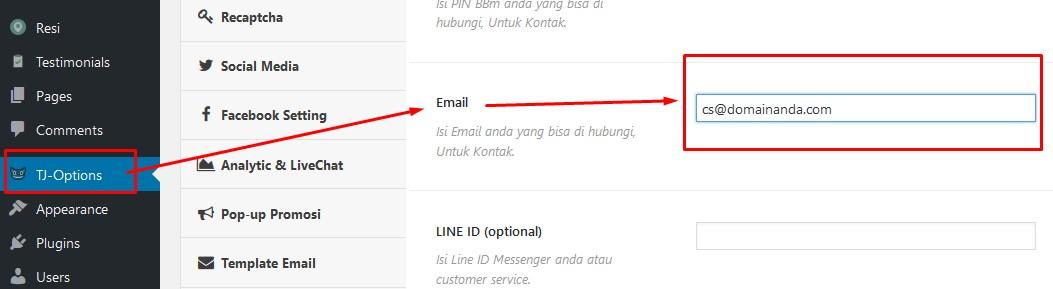Email Laporan order Template smart toko