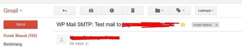 Send Tes Email Sukses di Terima Ke Email Pribadi - panduan toko satu