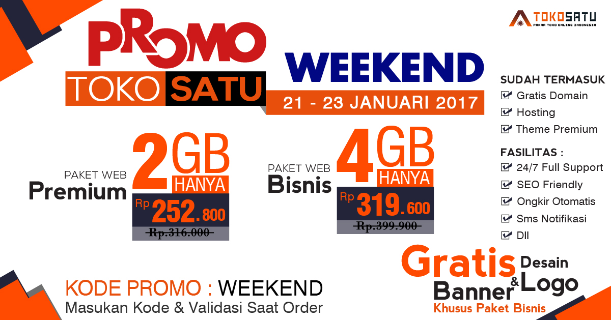 Promo Weekend Tokosatu 21- 23 Januari 2017