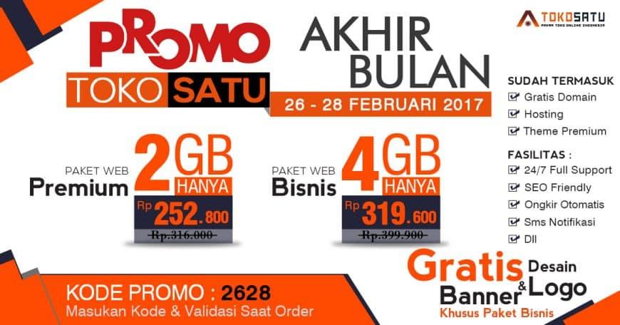 Promo Toko Satu Akhir Bulan, 26 – 28 Februari 2017