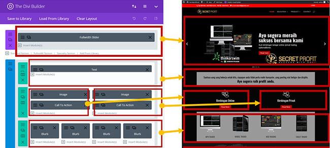 Panduan Edit Pages Builder Divi Theme