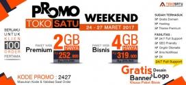 Promo Weekend Toko Satu, 24 – 27 Maret 2017