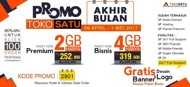 Promo Akhir Bulan Toko Satu, 29 April – 1 Mei 2017