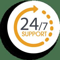 24 7 layanan support website