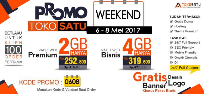 Promo Spesial Weekend 06-08 Mei 2017