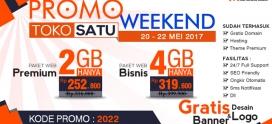 Promo Weekend Berlaku Tanggal 20-22 Mei 2017