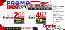 Promo Dirgahayu, Berlaku Tanggal 15-18 Agustus 2017