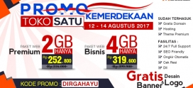 Promo Spesial Tokosatu 12 – 14 Agustus 2017