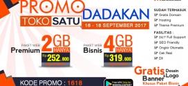 Promo Dadakan Berlaku Tanggal 16 – 18 September 2017