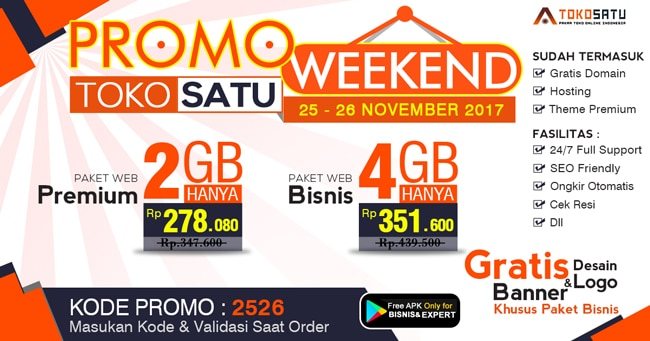 Promo Weekend, Berlaku Tanggal 25 – 26 November 2017