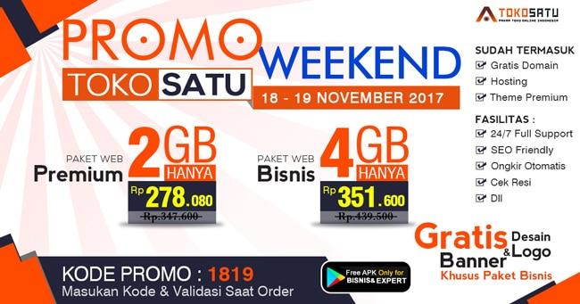 Promo Weekend, Berlaku Tanggal 18 – 19 November 2017
