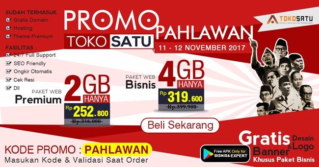 Promo Pahlawan, Berlaku Tanggal 11-12 November 2017