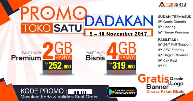 Promo Dadakan Hanya 2 Hari! 9 – 10 November 2017