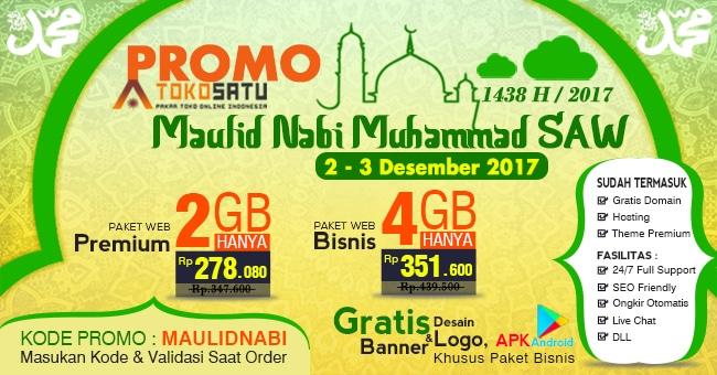 Promo Maulid Nabi Muhammad SAW, Berlaku Tanggal 2 – 3 Desember 2017