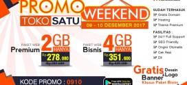 Promo Weekend, Berlaku Tanggal 09 – 10 Desember 2017