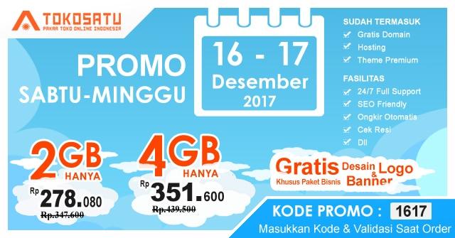 Promo Sabtu-Minggu, Berlaku Tanggal 16 – 17 Desember 2017