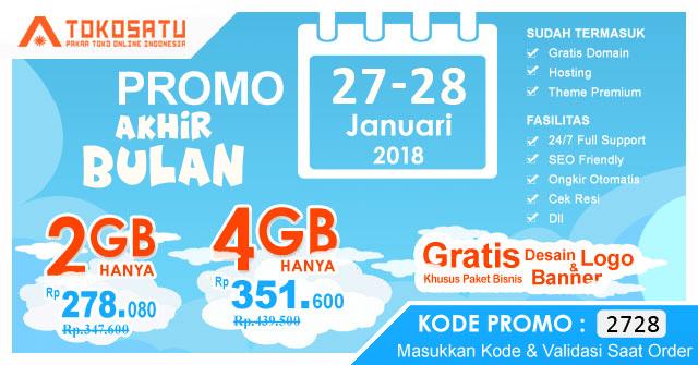 Promo Akhir Bulan, Berlaku Tanggal 27-28 Januari 2018