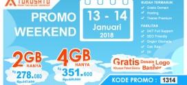 Promo Weekend, Berlaku Tanggal 13 – 14 Januari 2018