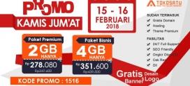 Promo Kamis – Jum'at, Berlaku Tanggal 15-16 Februari 2018