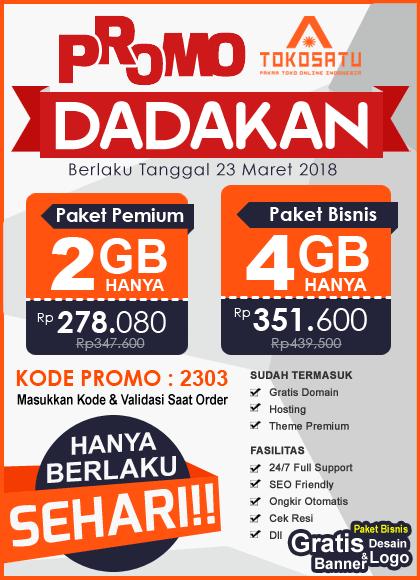 Promo Dadakan Sehari 23 Maret 2018