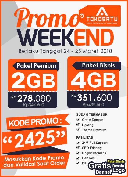 Promo Weekend, Berlaku Tanggal 24-25 Maret 2018