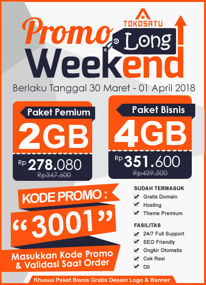 Promo Long Weekend, Berlaku Tanggal 30 Maret – 01 April 2018
