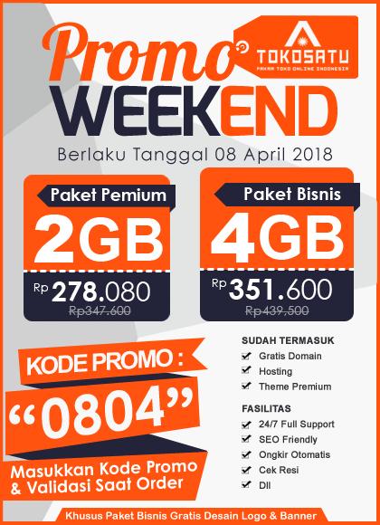 Promo Weekend Sehari, Berlaku Tanggal 08 April 2018
