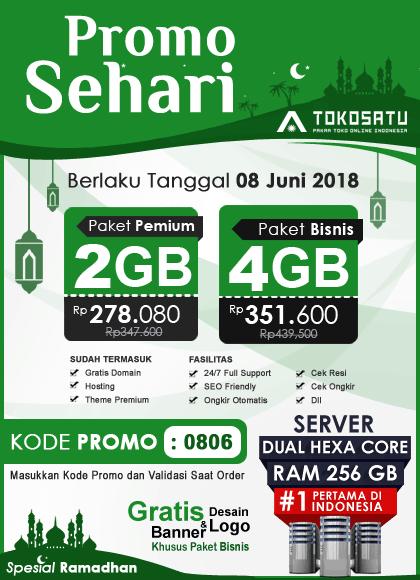 Promo Sehari Tokosatu, Edisi Ramadhan 08 Juni 2018
