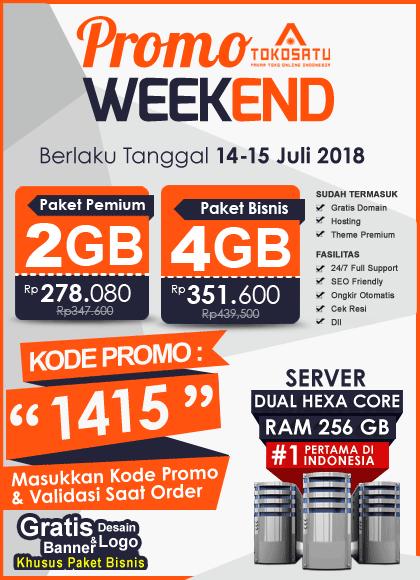 Promo Weekend Tokosatu, Edisi 14-15 Juli 2018