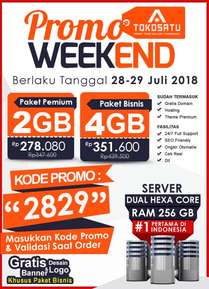 Promo Weekend Tokosatu, Edisi 28-29 Juli 2018